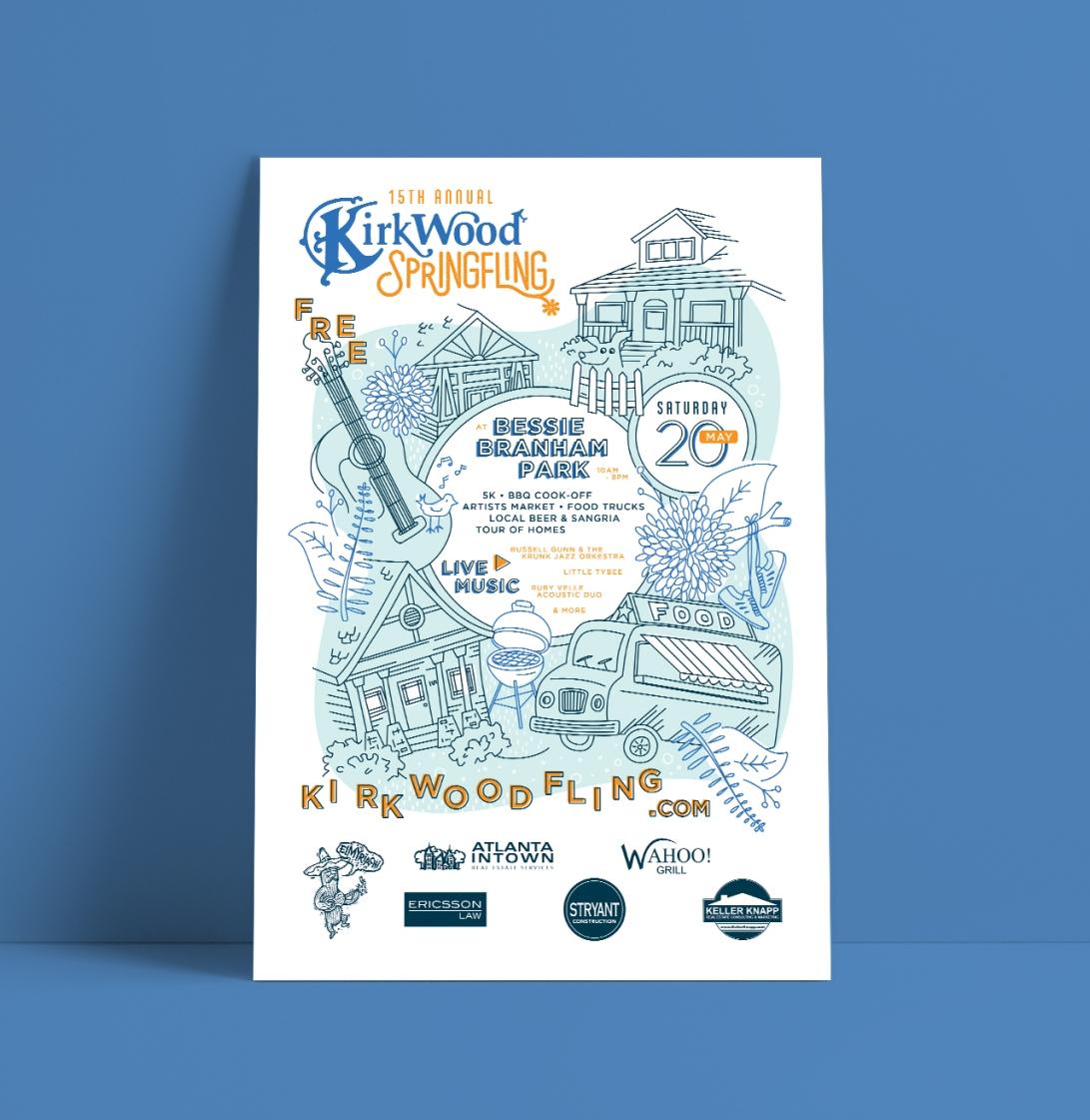 Kirkwood Spring Fling Poster Mockup